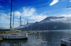 A mooring in mountains Royalty Free Stock Images