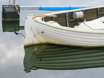 Mooring old white boat Stock Images