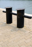 Mooring pier in a corner Stock Images