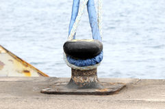 Mooring on a Pier Stock Photography