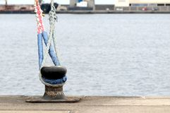 Mooring on a Pier Stock Photos