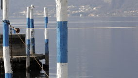 Mooring poles. Of mooring poles in the harbor Royalty Free Stock Photography