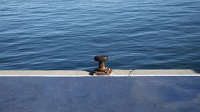 Mooring in a port. royalty free stock image