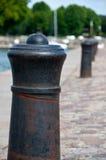 Mooring post. On a dock Stock Photo