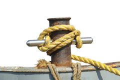 Mooring Post Stock Photo