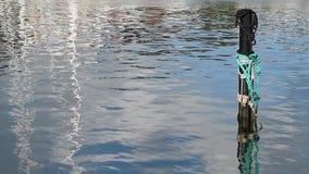 Mooring Post Water Ripples stock video footage