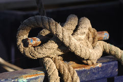 Mooring Rope Royalty Free Stock Photos