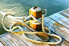 Mooring rope Royalty Free Stock Image