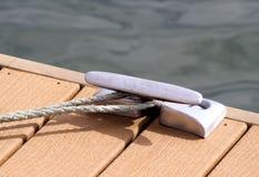 Mooring Rope At Dock Royalty Free Stock Photos
