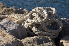 Mooring rope Royalty Free Stock Photos