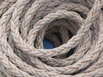 Mooring rope. Of a sailing ship stock photos