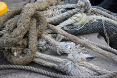 Mooring rope Royalty Free Stock Images