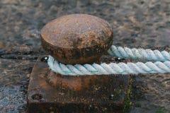 Mooring rope for sea ship Royalty Free Stock Photo