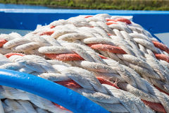 Mooring rope ship Royalty Free Stock Photography