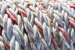 Mooring rope ship Royalty Free Stock Images