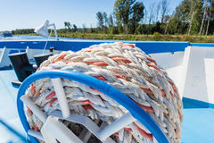 Mooring rope ship Stock Photos