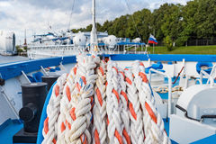 Mooring rope ship Stock Image