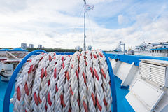 Mooring rope ship Stock Photography