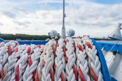 Mooring rope ship Royalty Free Stock Image