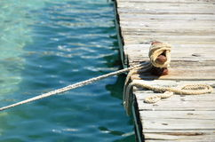 Mooring rope Stock Photos