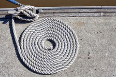 Mooring Rope Stock Photo