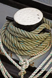 Mooring Ropes Stock Image