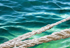 Mooring Ropes Stock Image