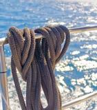 Mooring ropes Royalty Free Stock Image