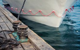 Mooring ropes Stock Images