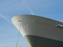 Mooring a ship with a rope. Mooring a vessel or ship with a rope Royalty Free Stock Photos