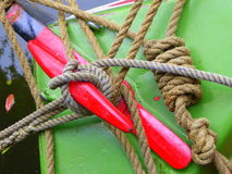 Mooring and towing ropes Royalty Free Stock Photography