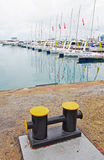 Mooring for vessels in the Sochi sea port Stock Image