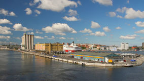 Mooring and water area of seaport. Stockholm, Sweden stock footage