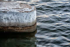 At the mooring. Wave and concrete Royalty Free Stock Image