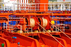 Mooring winches Royalty Free Stock Images