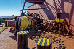 Mooring winches Stock Photography