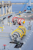 Mooring winches Royalty Free Stock Image