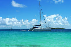 The Moorings charter yacht near Tortola, British Virgin Islands Royalty Free Stock Photos