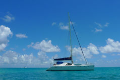 The Moorings charter yacht near Tortola, British Virgin islands Royalty Free Stock Photo
