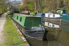 Moorings at Hebden Bridge Royalty Free Stock Images