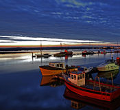 Moorings in Poole, UK Stock Photo