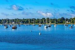 Free Moorings Sailboats Padanaram Harbor Dartmouth Massachusetts Stock Photography - 198007912