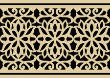 Moorish Arabic Border Stock Image