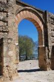 Moorish arch Medina Azahara. Royalty Free Stock Images