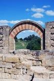 Moorish Arch, Medina Azahara. Stock Photos