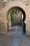 Moorish arch in toledo Royalty Free Stock Image