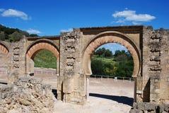 Moorish arches, Medina Azahara. Stock Images