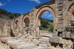 Moorish arches, Medina Azahara. Stock Image