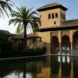 Moorish architecture in the Alhambra stock photography