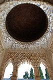Moorish architecture, Alhambra Palace. Marble arches forming the arcades surrounding the Court of the Lions, Palace of Alhambra, Granada, Granada Province Stock Photos